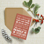 Personalised Typography Christmas Cards - Red additional 1
