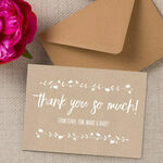 Personalised Rustic Kraft Thank You Card additional 1