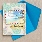 Exotic Beach Postcard Wedding Invitation additional 1