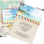 Exotic Beach Postcard Wedding Invitation additional 4