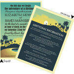 Tropical Beach Sunset Wedding Invitation additional 4