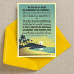 Tropical Beach Sunset Wedding Invitation additional 2