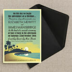 Tropical Beach Sunset Wedding Invitation additional 3