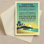 Tropical Beach Sunset Wedding Invitation additional 1