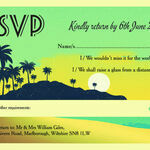 Tropical Beach Sunset RSVP additional 1