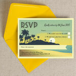 Tropical Beach Sunset RSVP additional 4