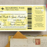 Boarding Pass Travel Themed Wedding Invitation additional 2