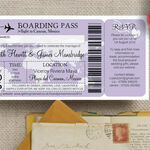 Boarding Pass Travel Themed Wedding Invitation additional 1