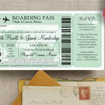 Boarding Pass Travel Themed Wedding Invitation additional 3