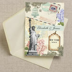 Vintage New York Postcard Wedding Invitation additional 3