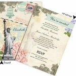 Vintage New York Postcard Wedding Invitation additional 4