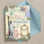 Vintage New York Postcard Wedding Invitation additional 2