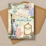 Vintage New York Postcard Wedding Invitation additional 1