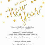 Gold Confetti New Years Eve Party Invitation additional 1