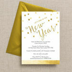 Gold Confetti New Years Eve Party Invitation additional 3