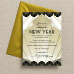 Black and Gold Art Deco New Years Eve Party Invitation additional 3