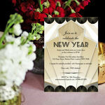 Black and Gold Art Deco New Years Eve Party Invitation additional 2