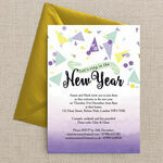 Colourful Confetti New Years Eve Party Invitation  additional 2