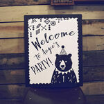 Grizzly Bear Welcome Party Sign additional 1