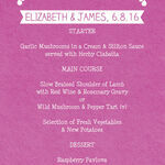 Mexican Inspired Papel Picado Wedding Menu additional 3