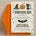 Spooktacular Personalised Halloween Party Invitation additional 1