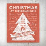 Personalised Rustic Red Christmas Tree Print additional 1