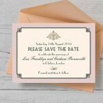 Pastel Art Deco Save the Date additional 3