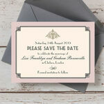 Pastel Art Deco Save the Date additional 1