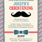 'Little Man' Christening / Baptism Invitation additional 2