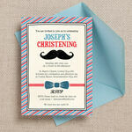 'Little Man' Christening / Baptism Invitation additional 1