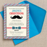 'Little Man' Christening / Baptism Invitation additional 3