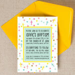 Pastel Confetti Personalised Christening / Baptism Invitation additional 1