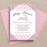Pastel Bunny Baby Shower Invitation additional 1