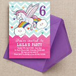 Rainbow Unicorn Party Invitation additional 1