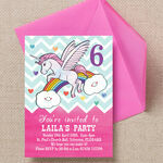 Rainbow Unicorn Party Invitation additional 3