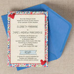 Country Textiles Wedding Invitation additional 1