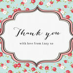 Vintage Rose Thank You Cards additional 4