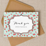 Vintage Rose Thank You Cards additional 2