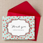 Vintage Rose Thank You Cards additional 3