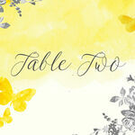 Yellow & Grey Watercolour Floral Table Name additional 1