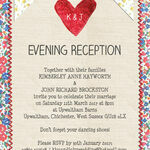Country Textiles Evening Reception Invitation additional 2