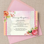Pastel Watercolour Evening Reception Invitation additional 1