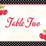 Retro Cherry Rockabilly Table Name additional 1