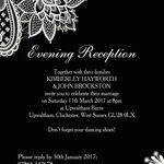 Romantic Lace Evening Reception Invitation additional 1