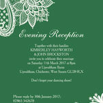 Romantic Lace Evening Reception Invitation additional 2