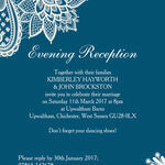 Romantic Lace Evening Reception Invitation additional 3