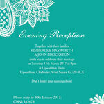 Romantic Lace Evening Reception Invitation additional 4