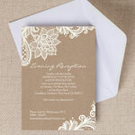 Rustic Lace Evening Reception Invitation additional 1