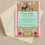 Rustic Woodland Evening Reception Invitation additional 1