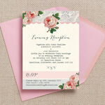 Sweet Vintage Evening Reception Invitation additional 1